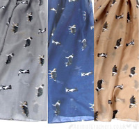 Border Collie coloured print ladies Scarf Sarong Sheepdog Sheep Dog lover gift