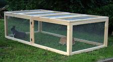Holz Freigehege Hasenstall Freilauf Kaninchenstall Hasenkäfig Kleintierstall