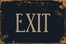 "Exit 8"" x 12"" Vintage Aluminum Retro Metal Sign VS486"