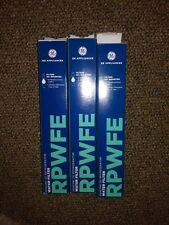 LOT OF 3 GE RPWFE REFRIGERATOR WATER FILTERS (FREE PRIORITY SHIPPING)