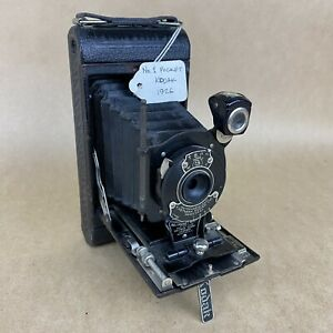 Antique No. 1 Pocket Kodak 1926 Black Folding 120 Film Camera