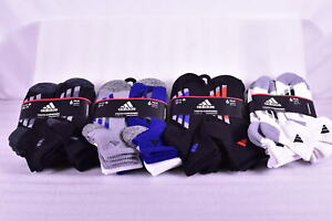 6-Pair Youth Adidas Cushioned Quarter Length Socks - Choose Color & Size