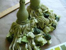 Scalamandre Vichy 100% Silk Double Tie Back Fern Greens Each Msrp$339
