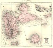GUADELOUPE. Marie-Galante, Désirade, Iles des Saintes.Vuillemin. 1903 old map