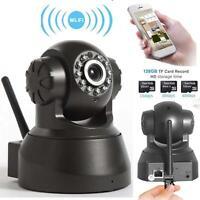 Wireless WIFI Pan Tilt 720P Security IP Camera Night Vision Web cam Black US #M