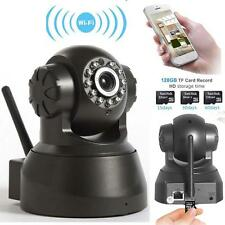 Wireless WIFI Pan Tilt 720P Security IP Camera Night Vision Web cam Black US #M