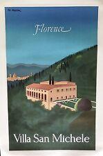 Original Vintage Poster Florence Villa San Michele by Pierre Fix Masseau ca.1983