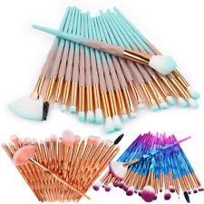 20 PCS Unicorn Diamond Make up Brushes Set Foundation Eyeshadow Lip Powder Tools