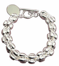 Silver Plated Chain/Link Costume Bracelets without Stone