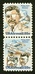 #C96a 25c Wiley Post, Se-Tenant Pair, Mint ANY 5=