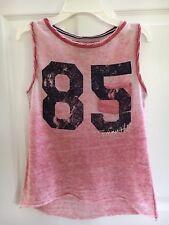Tommy Hilfiger Pink Tank Top Shirt Hi-Lo Hem Size Large 12-14