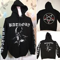 BATHORY Size M Pull Over Goat Head Pentagram Hoodie Band Metal Official Merch