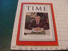 original vintage TIME MAGAZINE: secretary of agriculture WALLACE dec 19, 1938