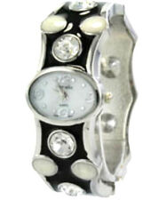 Geneva Fashion Crystal Bangle Encrusted Metal Band Wrist Watch Several Styles