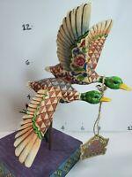 "Jim Shore 2005 ""Companions in Flight"" Heartwood Creek  #4003514 Mallard Ducks"