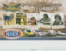 2016 Funny Car Legends SEMA NHRA postcard Jungle Pam Force Prudhomme McEwen