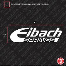 2X EIBACH SPRINGS car sticker vinyl decal