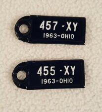 License Plate Mini 1963 Ohio Disabled American Veterans Key Chain