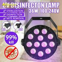 36W Disinfection UV LED Lamp Ultraviolet UVC Sterilizer Light Bulbs 110V/220V