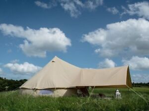 4/5/6M Ultimate Bell Tent Waterproof Glamping Tent Camping Tent Awning Sunshade