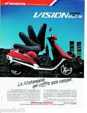 PUBLICITE ADVERTISING 046  1988  la motomobile Vision met-in de Honda