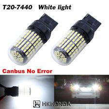 2Pcs White T20 Light Bulbs Car Turn Signal LED Wedge 7440 Super Bright 12V