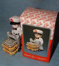 1997 Enesco Coca-Cola Coke Salt Pepper Delivery Boy Dolly Of Coke n Original Box