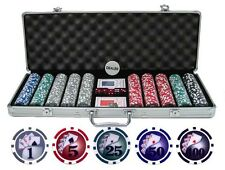JP Commerce 13.5g 500pc Yin Yang Clay Poker Chip Set 1 Dealer Button