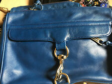 Blue and gold Rebecca Minkoff MAC Morning After Clutch Shoulder Bag Crossbody