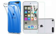 Fits iPod Touch 7 7th Gen Clear Thin Gel Case Cover + Glass Screen Protector