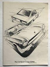 1969 Fiat 124 Sport Coupe Vintage Sportscar Ad $2940