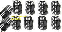 10 NGT Fishing Tackle Round Metal Cage Feeders / Particle 25g Swimfeeders / bait