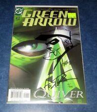 GREEN ARROW #1 signed w/ sketch original art ANDE PARKS HESTER 2001 DC DF COA NM