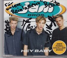 Jam Bros-Hey Baby cd maxi single 4 tracks signed by the members
