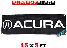 Acura Flag Banner Brake Car Racing Automotive Shop Garage Black (18x58 in)