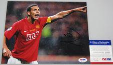 RIO FERDINAND Man Utd Hand Signed 8'x10' Photo + PSA DNA COA Q21921