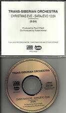 TRANS SIBERIAN ORCHESTRA Christman Eve Srarjevo PRCD 6928 PROMO DJ CD Single