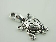 Schildkröte Anhänger silber 10 Stück Metall Perlen Schmuck basteln Charm
