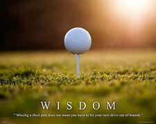 Golfing Motivational Poster Art Print Golf Balls Shoes Clubs Tiger Woods  MVP290