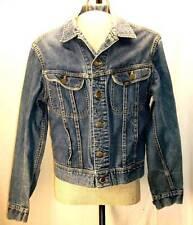 LEE 101-J Vintage Denim Jacket Size 40 Long XLNT VTG 1970's Indigo Blue Cowboy