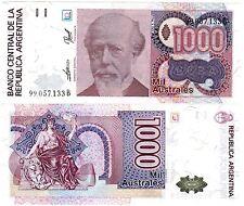 Argentine ARGENTINA Billet 1000 AUSTRALES ND P329 NEUF