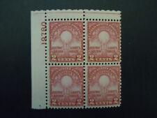 "1929 #655 2c Edison Plate Block Mnh Og Cv $55.00 ""Includes New Mount"""