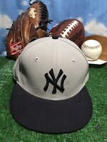 New Era 59Fifty Hat MLB New York Yankees Men's Gray 7 1/4 Fitted 5950 Cap hat h3