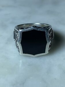 STEPHEN WEBSTER-Black Onyx Men's Ring-Pre-Owned-Excellent Cond-Authentic-Size 10