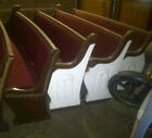 Antique Oak Church Pews (circa 1900) 8' wide (see separate listing for 16' wide)