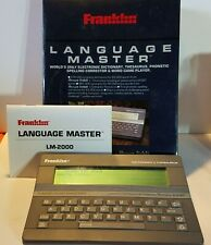 Franklin Language Master Lm-2000B Thesaurus Phonetic Spelling Corrector Word Gam
