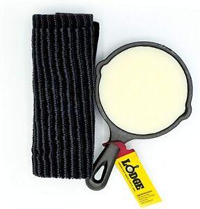 Mini Skillet Care Kit - Lodge Cast Iron Skillet with Crisbee - Seasoning