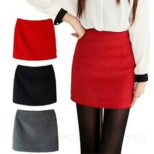 JPCLOTH Lady Tweed Party Cashmere blends Warm Mini Skirts Womens Thick Skirt Sz