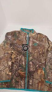 Women's Realtree Xtra Fleece Zippered Jacket w/ Turquoise size 2XL, NWT