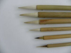 6pc set Chinese paint brushes for Calligraphy watercolour drawing painting WB13